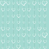 Hand draw Lace love turquoise Royalty Free Stock Photos