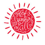 Hand draw lettering of summer. Stock Image