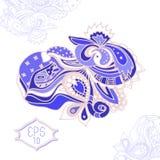 Hand draw line art ornate design Stock Photo