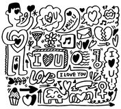Hand draw love element Royalty Free Stock Photos