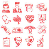 Hand draw medical Royalty Free Stock Photos