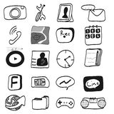 Hand draw mobile icon Stock Photo