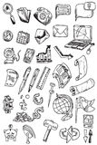 Hand draw money icon collection vector Royalty Free Stock Photos