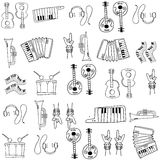 Hand draw music doodles Royalty Free Stock Photography