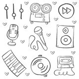 Hand draw musical instrument vector art. Doodle style Stock Photography