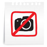 No photograph on paper Note Royalty Free Stock Images