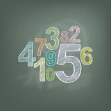 Hand draw number on chalkboard Royalty Free Stock Photos