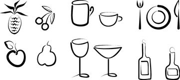 Hand Draw Objects Royalty Free Stock Photo
