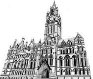Hand draw old catedral. Building Stock Photo