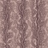 Hand draw ornate seamless flower paisley design Stock Images