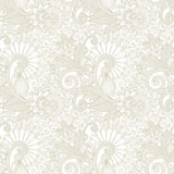 Hand draw ornate seamless flower paisley design Royalty Free Stock Photos