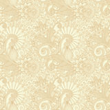 Hand draw ornate seamless flower paisley design Royalty Free Stock Images