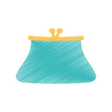 Hand draw purse wallet money saving color Stock Photo