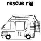 Hand draw of rescue rig. Vector illustration Stock Photography