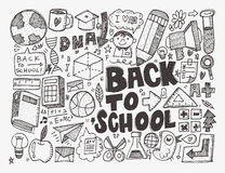 Hand draw school element Stock Image