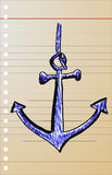 Hand draw sketch, anchor Stock Photo