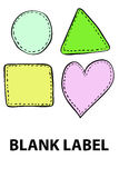 Hand draw sketch of blank label Stock Images