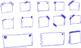 Hand Draw Sketch, Blank Note using blue pen Royalty Free Stock Photos