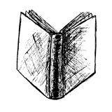 Hand Draw Sketch of Book isolated on white Royalty Free Stock Photos