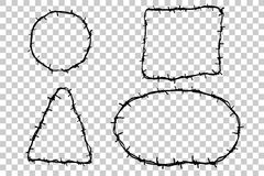 Hand Draw sketch border from Barbed Wire Stock Photo