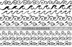 Hand draw sketch, border line Royalty Free Stock Photo