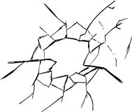 Hand draw sketch, broken glass Royalty Free Stock Photos