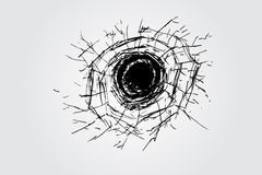 Hand draw sketch, broken glass Stock Image