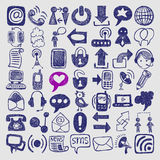 Hand draw sketch communication element collection Royalty Free Stock Photos