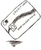 Hand draw sketch credit card Royalty Free Stock Photo