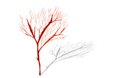 Hand draw sketch, dead tree Royalty Free Stock Photos