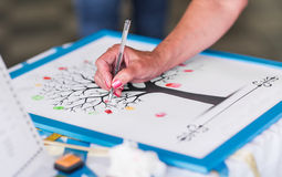 Hand for draw and sketch Royalty Free Stock Image