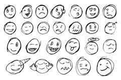 Hand draw sketch, emoticon Stock Image