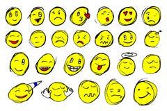 Hand draw sketch of emoticon Royalty Free Stock Photos
