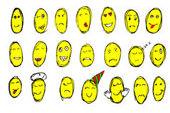 Hand draw sketch of emoticon Royalty Free Stock Images