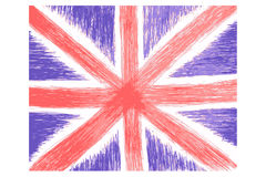 Hand Draw Sketch, English Flag Stock Photo