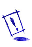 Hand draw sketch, Exclamation, solated on white Stock Photography