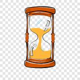 Hand Draw Sketch of Glass Hour, at transparent effect background. Vector Hand Draw Sketch of Glass Hour, at transparent effect background vector illustration