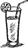 Hand draw or Sketch of Juice Stock Images