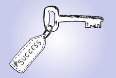 Hand draw sketch, key to success Stock Images