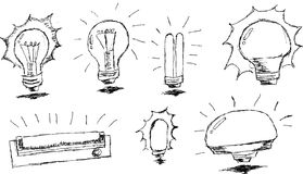 Hand draw, sketch of lamp Stock Image