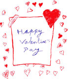 Hand draw sketch, Lovely Greeting Card Royalty Free Stock Photo