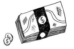 Hand draw sketch of money Stock Photo