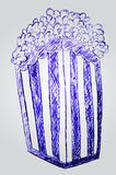 Hand draw sketch of Pop Corn Stock Photo