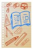 Hand draw sketch, school stuff Stock Photo
