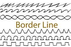 Hand draw sketch, seamless border line Stock Image