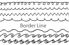 Hand draw sketch, seamless border line Royalty Free Stock Image