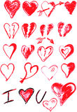 Hand draw sketch, set of love Stock Photo