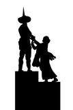 Hand Draw Sketch silhouette Statue of Tugu Tani (one of statue in Jakarta, Indonesia) Royalty Free Stock Photos