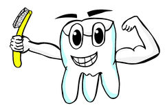 Hand Draw Sketch of Smiling Tooth Royalty Free Stock Image