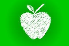 Hand Draw sketch of streak Apple Royalty Free Stock Image